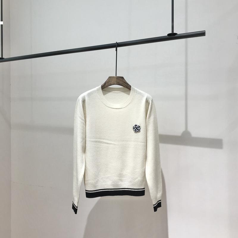 Flor 2021 Nova lã, Redondneck Pullover Sweater Mulher Outono Inverno Luxo Designer Mulheres Vintage Jersey LI2V 84GP