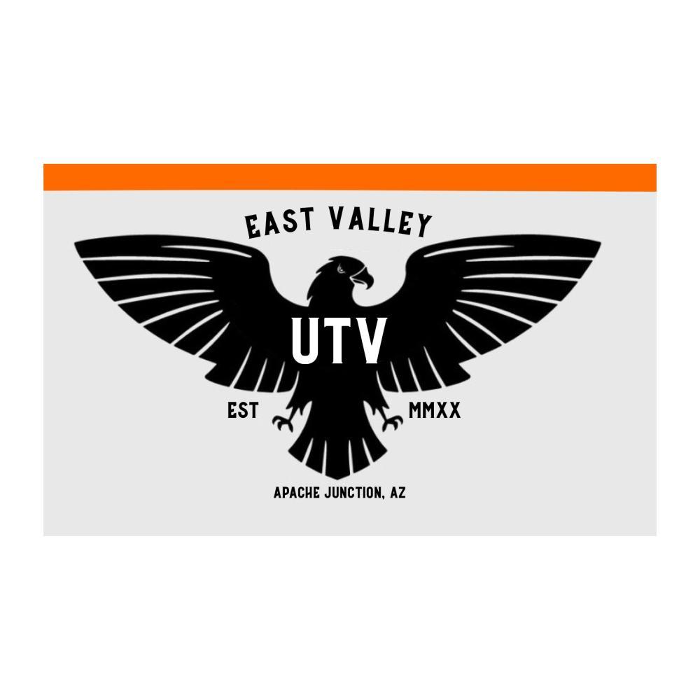 Özel Dijital Baskı 3x5ft Ücretsiz Drop Shipping Açık Doğu Valley UTV Siyah Kartal Bayrakları Dekorasyon için Banner