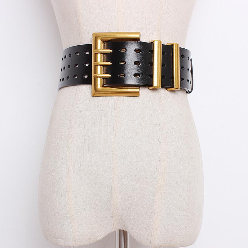 Korsettgürtel plus Größen-Designer-Gurte für Frauen Hohe Qualität Echtes Leder Alle Spiele Taille Cummerbunds Breite Cinturon Mujer