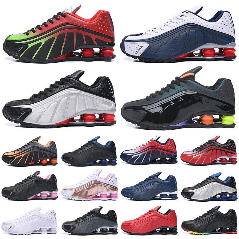 Özel Teklif ABD Mücadelesi Kırmızı R4 Ayakkabı Chaussures Metalik Gümüş Altın Koşu Ayakkabıları Üçlü Siyah Beyaz Kanye Erkekler Eğitmenler Zapatos Sneakers