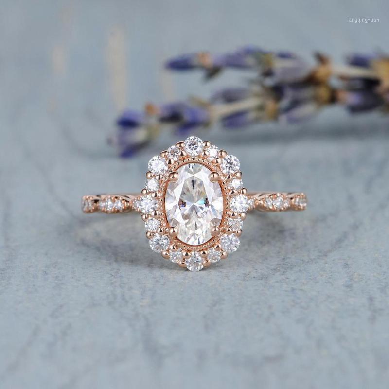 Vintage retrò Mozambicano Micro-set Micro-set anello di cristallo di zircone per le donne Fashion Engagement Party Engagement Argento Placcato gioielli1