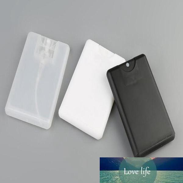 Promotion vide 20ml en plastique noir Carte de crédit Forme bouteille de parfum de poche femmes récipient cosmétique petit vaporisateur Emballage