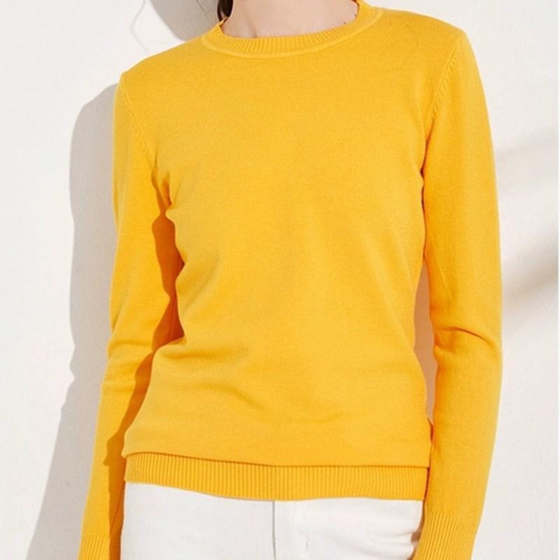 Женщины Candy Knit Перемычка Женщина 30% шерсть Тонкой свитера весна осень зима мягкая Stretch Рендер вязать пуловер Трикотаж