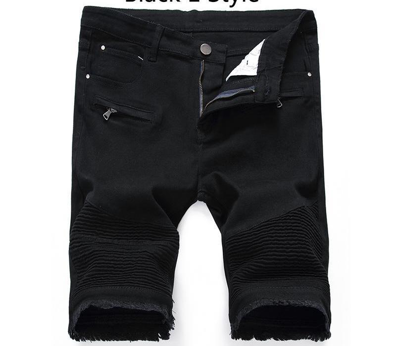 New 2020 Schwarz-weiße Mann-Jeans beiläufige männlichen Shorts Hosen Männer Slim Fit Fitness Plus Size Knielänge Sommer Shorts66