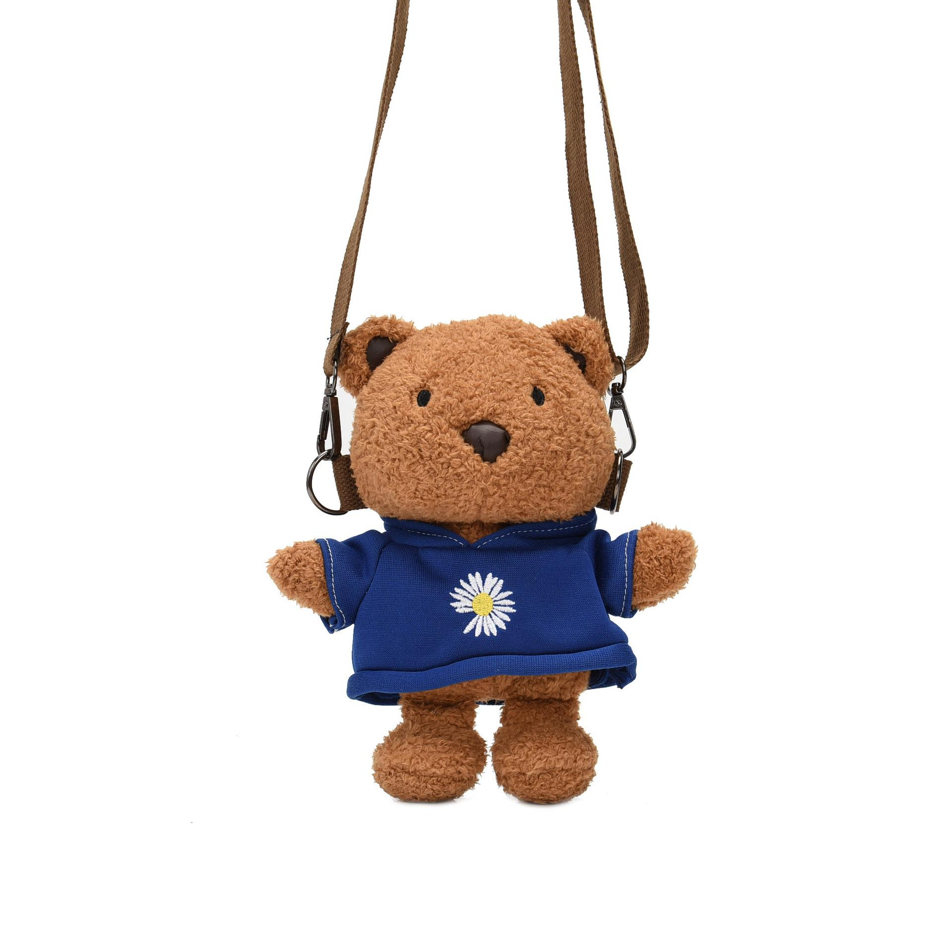 8 inch Animal dolls Plush Bears toys Bear Backpack kid toy 2020 selling small and exquisite gift of the child