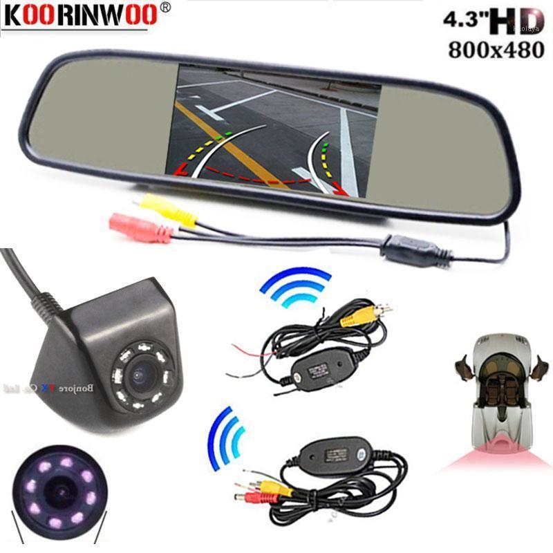 Koorinwoo HD Assistance Intelligent Dynamic Trajectory Parking Line Rear View Vehicle Reverse Backup Camera For Car Monitor1