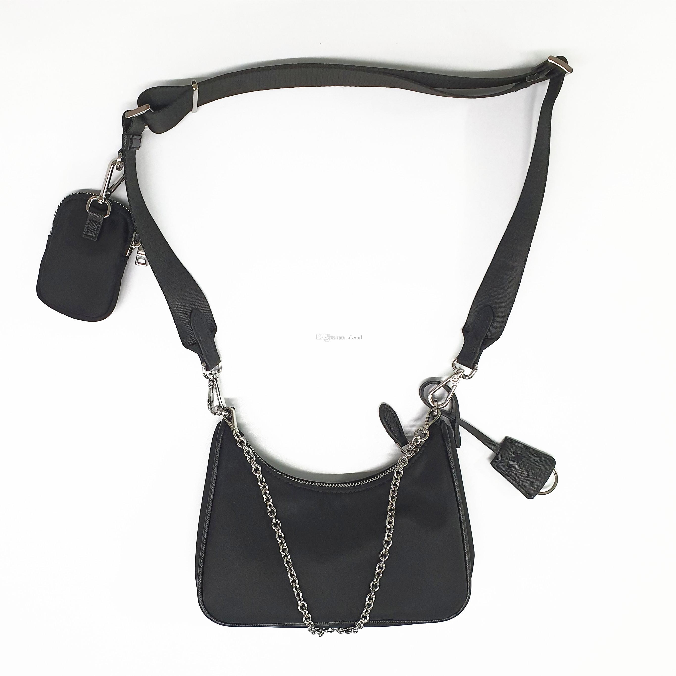 kadınlar omuz Çapraz Vücut çantası Göğüs paketi bayan Bez zincirleri çanta presbiyopik çanta haberci çanta tuval için 2020 Satış 3 parçalı set çanta