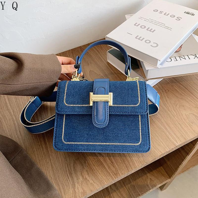 Jeans de luxe Designer Bandbody Sacs Messenger Messenger Petite Épaule En Denim Femmes Femmes Sacs à main 2021 New Hadfl