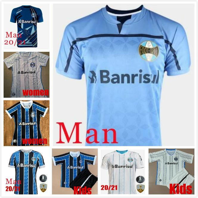 2020 2021 Gremio Soccer Jerseys Home Away 20 21 Gremio Camiseta De Fútbol Luan Maicon Everton Laghetto Douglas Ramiro Pepe Football Shirt