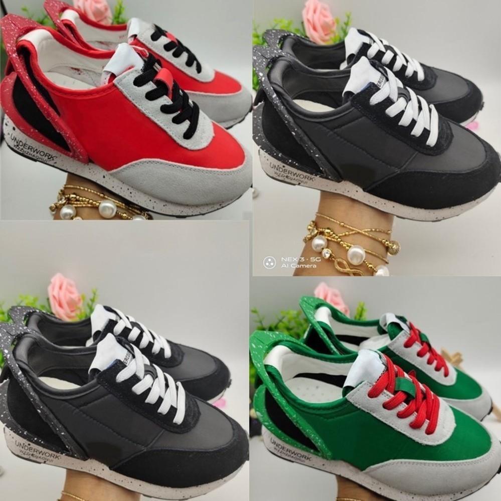 TAKAHASHI disfarçado junho Daybreak crianças tênis verdes Trianers Sorte infantil criança Menino atlético meninas tênis Universidade Vermelho