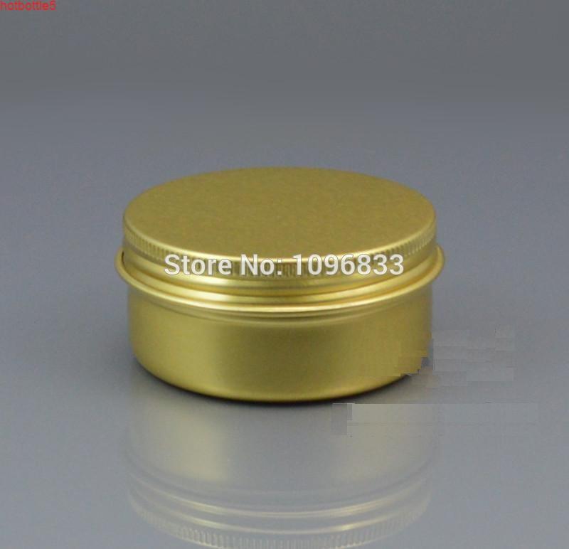 50G золотой цвет алюминиевая сливная банка, 50 мл золотые банки, пустые олова контейнер, косметическая упаковка металлическая коробка, 50 шт. / Лорговоды