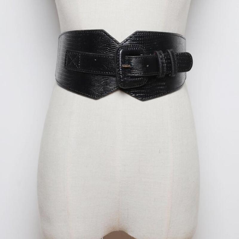 Новые старинные кожаные женские ремни COSET ELASITC Широкие ремни связывания для женщин платье Cummerbund Корея модные ремешки аксессуар