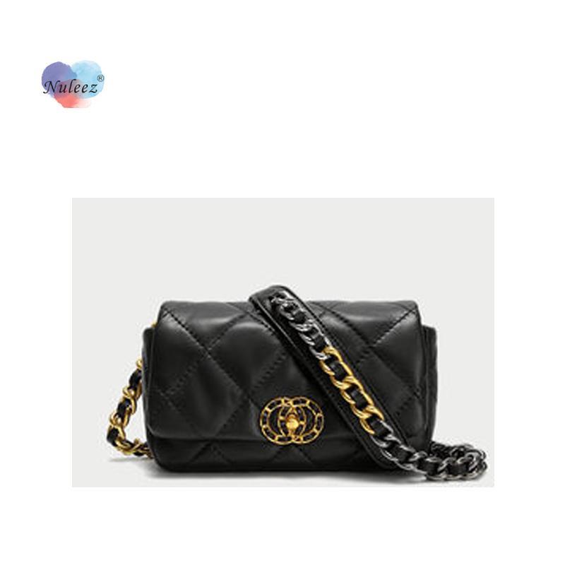 Nuleeze Véritable Sac à poitrine de Cowhide pour femmes Sac de taille Mini sac Mini sac à la mode NOUVEAU NOUVELLE COLLECTION Portefeuille LJ201023