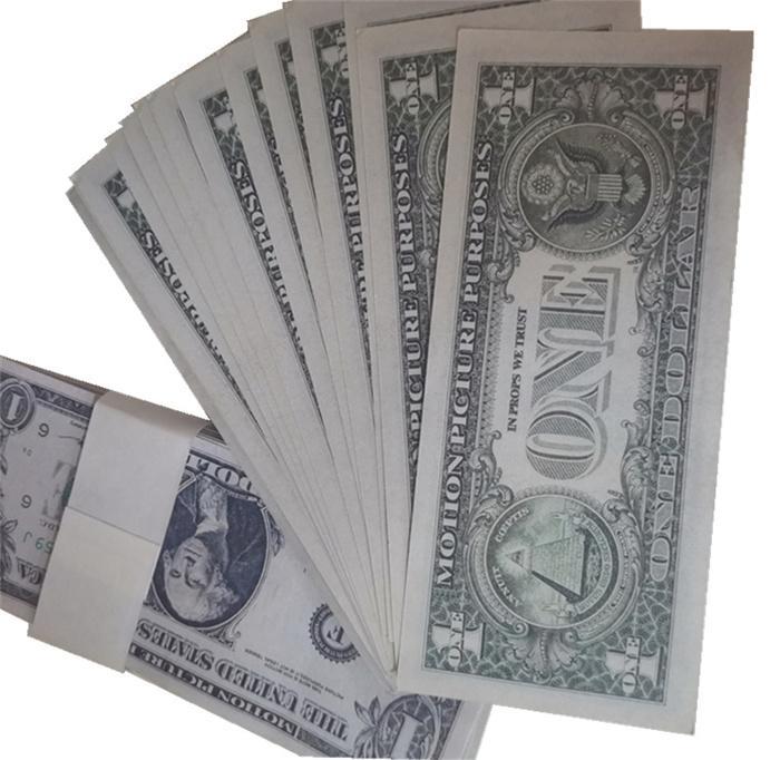 Riproduzione Vendita Pistola Dollaro Atmosphere Collection Party Counterfeit 1 Banconota Funzionamento falso Film Soldi Bar Prop Toy Hot Stage BankNote L0129-9 Vlbnx Ielu