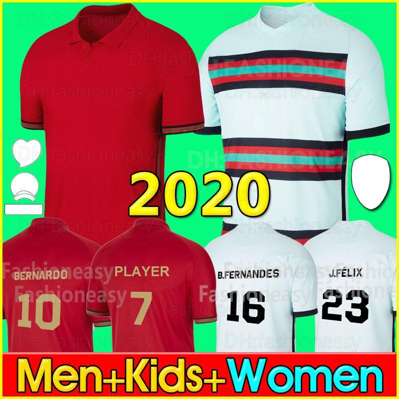 2020 Portogallo maglie maglia da calcio Coppa Europa JOAO FELIX J.FÉLIX BERNARDO B.FERNANDES PEPE uomini bambini maglie da calcio kit 20 21 2020 jerseys