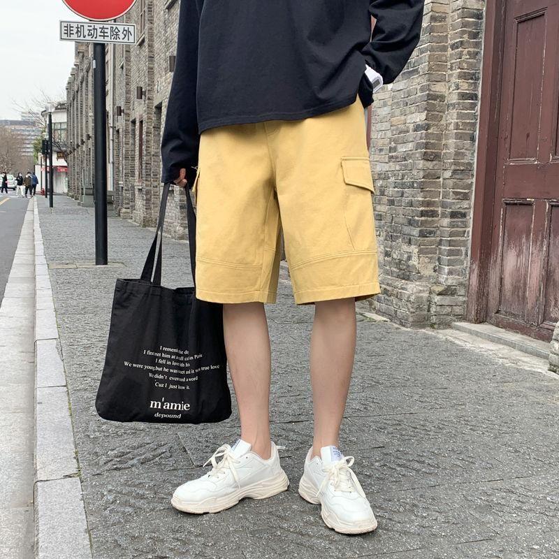 2020 Мужской Гарем Casual Cotton Jogger Gym шорты Multi-карман Бодибилдинг Брюки Tide Сыпучего хаки / черный цвет Досуг Шорты