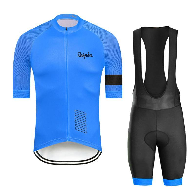 Raphaful 2020 Pro Estate Jersey Cycling Jersey Set traspirante Racing Team Sport MTB biciclette Uomini manica corta abbigliamento ciclismo