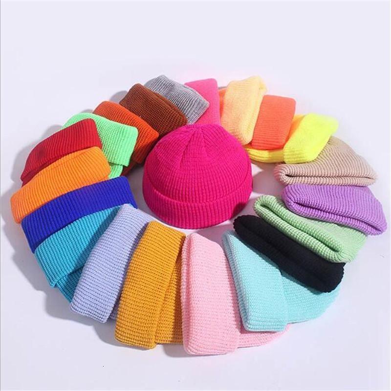 Nuevo sombrero de punto Mujeres SkullCap hombres gorros invierno retro sin extravagante holgón melón gorra masculino manguito portero pescador gorros sombreros hembra1