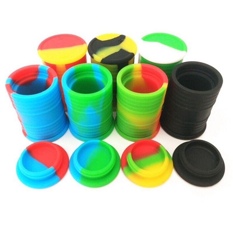 11ml de grado alimenticio antiadherente contenedores de cera de silicona caja de silicona jarras titulares de herramientas de almacenamiento Tarro de aceite