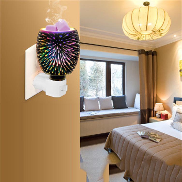 Explosive 3D Aroma Wachs Schmelzlampe smokeless romantische warme Wachs Schmelz Lampenschirm Innen-Nachtlicht Aromatherapie Ofen