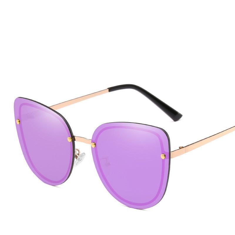 LPAILON Fashion Cat Eye Polaroid Lunettes de soleil Femmes Blanc Cadre dégradé Lunettes de soleil UV400 Lunettes de conduite Mode Oculos Feminino