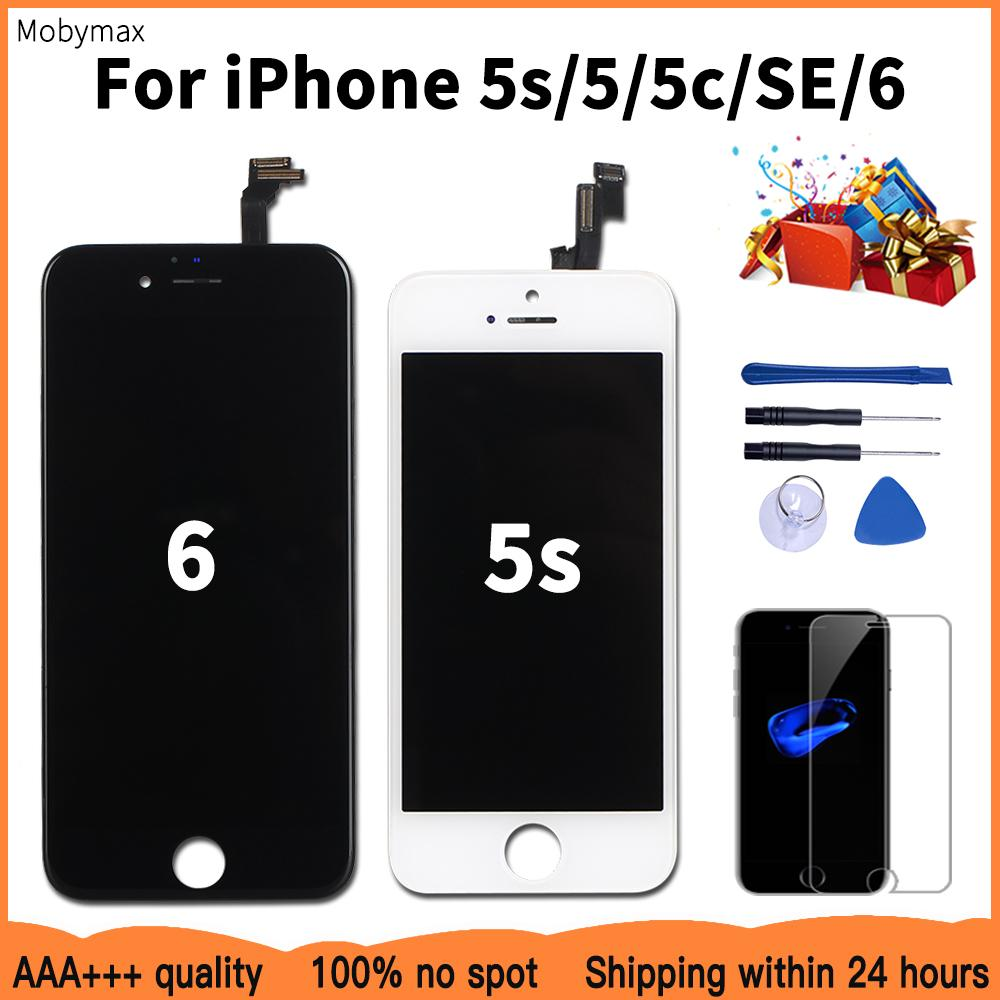 Good+++ Quality LCD Display For iPhone 5 5S 5C Module With Touch Digitizer Assembly Replacement 6 SE No Dead Pixel
