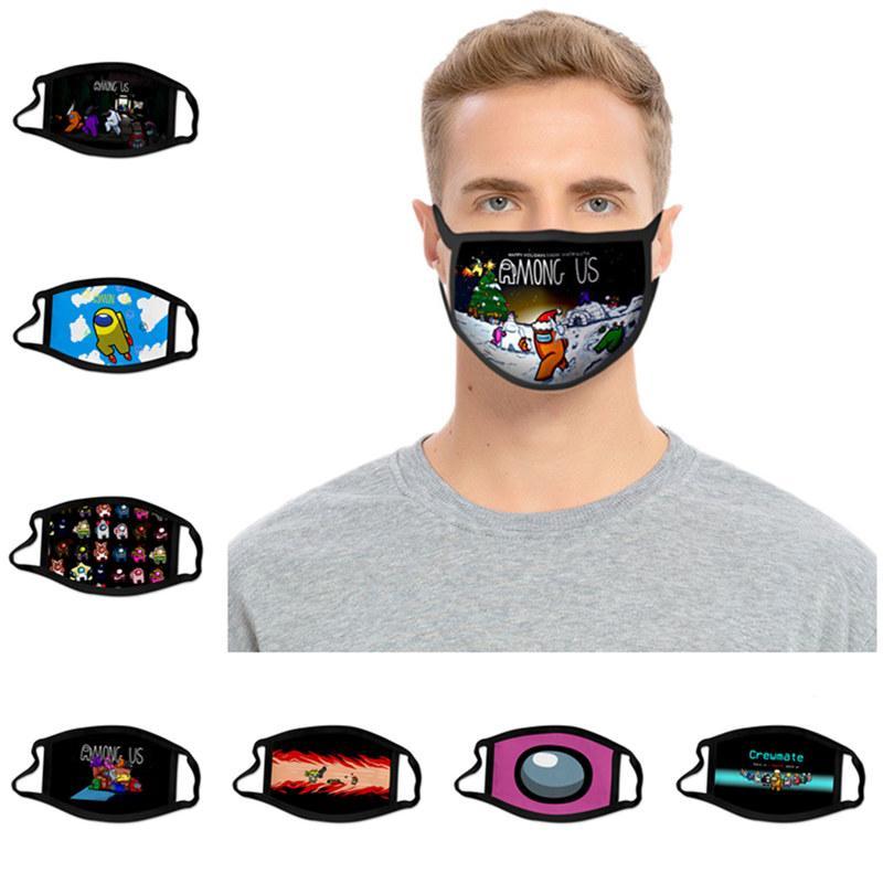 Tra Stati Uniti Face Mask Game Design Destrarre antipolvere Maschere per il viso Stampa dei bambini Bambini Adulto Mese Cover Lavabile Durabile Durabile Face Mask 37 Stile