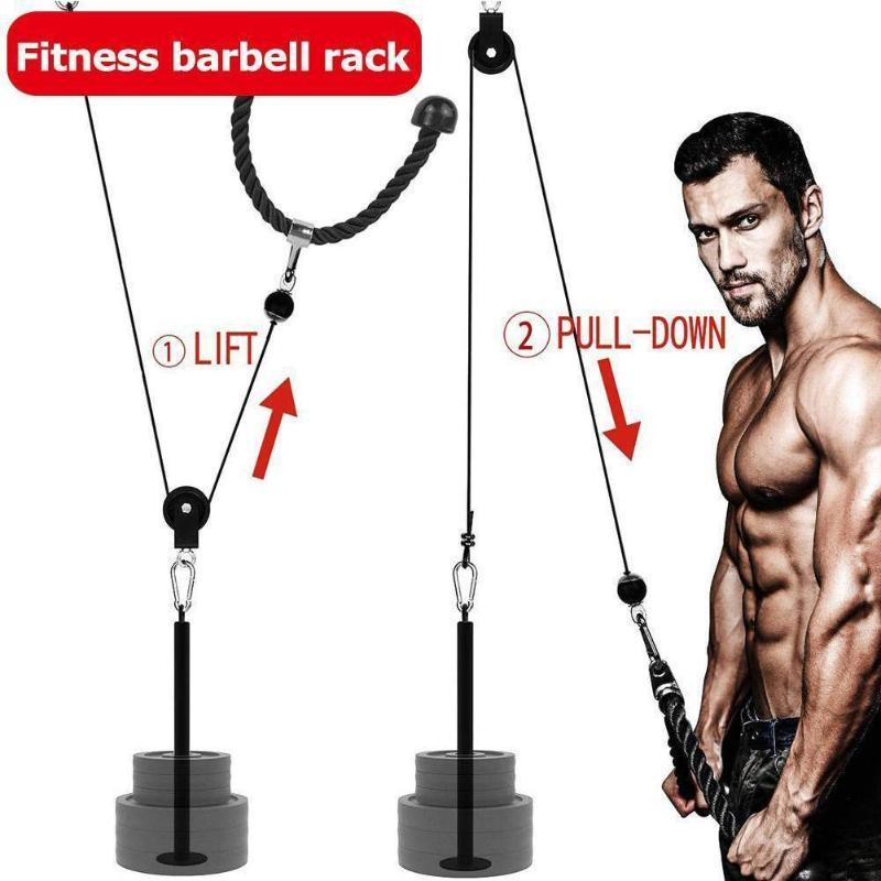 Fitness Loading Pinley Poulie Câble Système de câble pour exercices à domicile Dumbbell Poids de l'entraînement de levage Force de formation B4H0