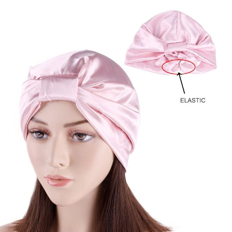 Этническая одежда 2021 модных женщин шелковые тюрбаны шляпа мусульманский поворот узел головной платок капота женские дышащие атласные бандана аксессуары для волос Индия