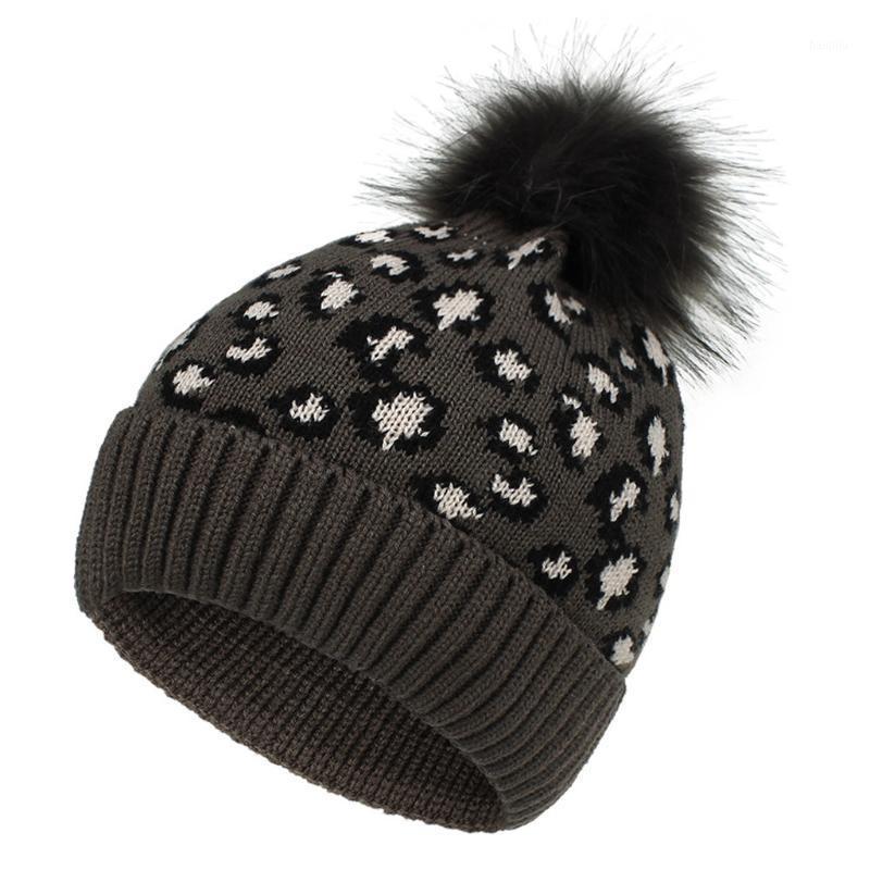 Льетные печатные лыжи плюшевые моды держать теплые зимние шапки вязаные хлопчатобумажные шляпы с парикмалу на открытом воздухе