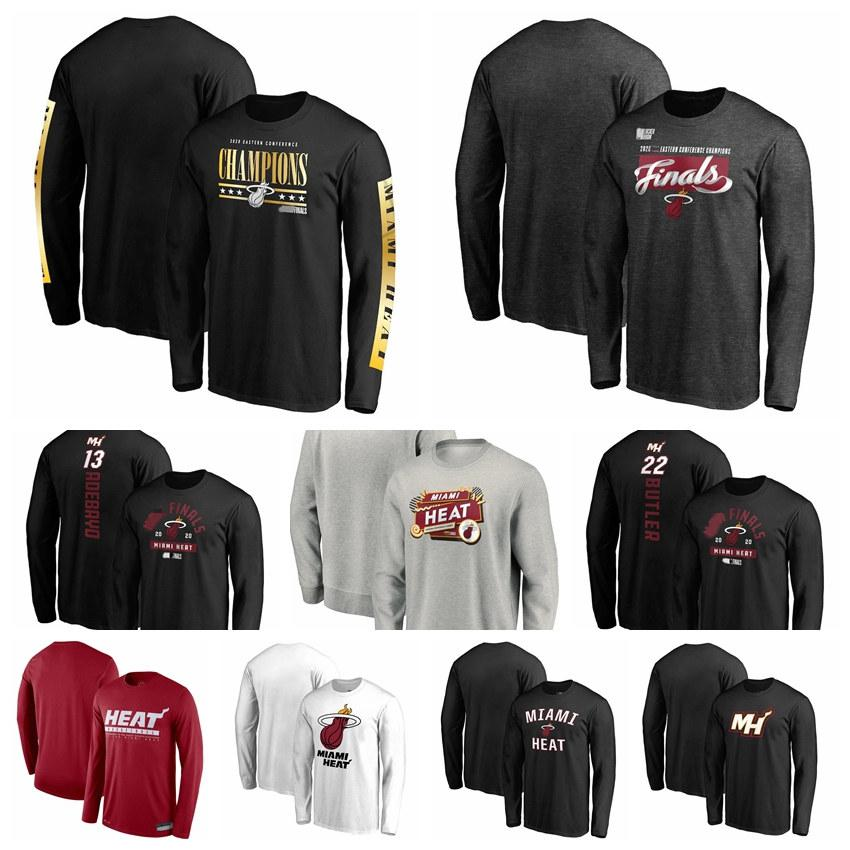MiamiHeatMen Women Youth Fanatics Branded 2020 Eastern Conference Champions Game Lead Long Sleeve Basketball T-Shirt