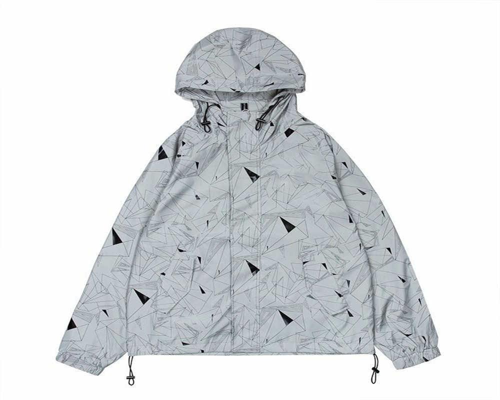 Erkekler floresan moda rahat ceket siyah nightcrawler gardırop mutlaka var patlama tip yansıtıcı kaplama