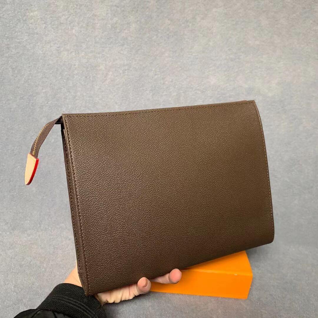 أعلى جودة جديد حقيبة اليد حقيبة السفر الحقيبة 26 سنتيمتر حماية ماكياج مخلب المرأة جلدية أكياس مستحضرات التجميل للماء للنساء مع حقيبة الغبار