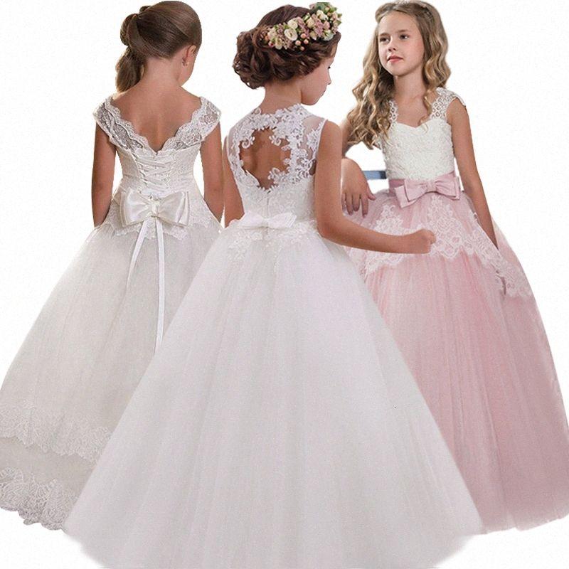 Nuevo vestido de boda Girls'Back hueco de la flor vestido 2020 Boy gama alta elegante de las muchachas de flor de encaje 062S banquetes #