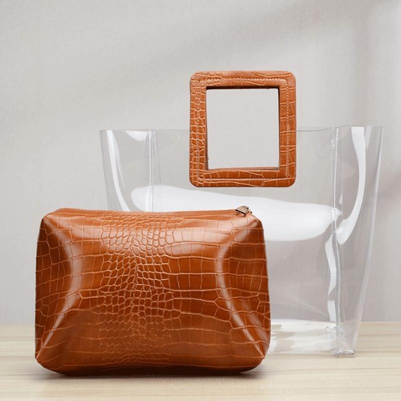 حقيبة HBP المركبة حقيبة رسول حقيبة محفظة حقيبة مصمم جديد جودة عالية الأزياء اثنين في واحد شفافة