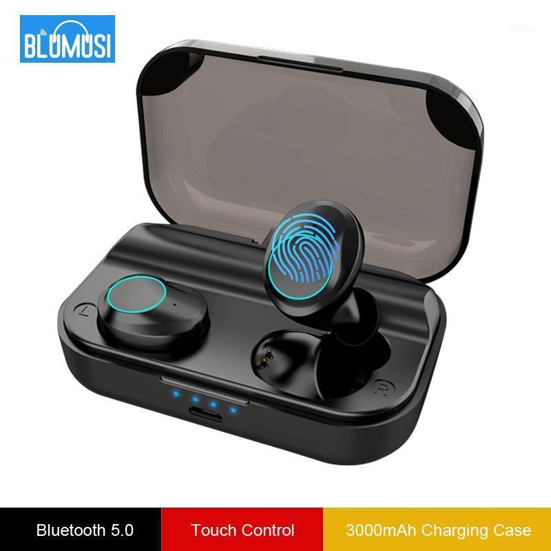 Sem fio Bluetooth 5.0 fones de ouvido fones de ouvido Tws fones de ouvido som estéreo com 3000 mah grande caso de carregamento e headset1