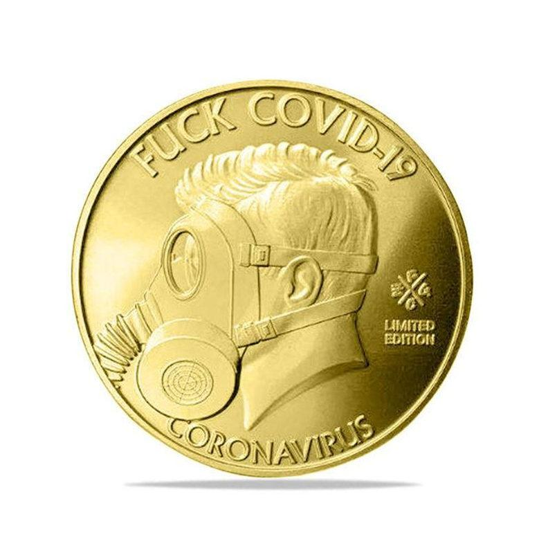 Sono sopravvissuto 2020 Silver Commemorative Copia monete regalo per gli amici collezionisti di famiglia FY4414