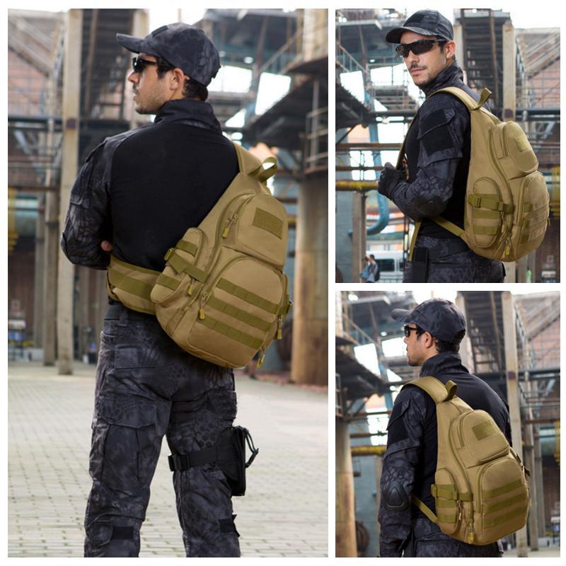 20-35L Brustschlinge Schulter Rucksäcke Tasche Sporttasche Einzelne Militär Taktische Camping Packung Taktisch Wasserdichte Außengürtel FCBUV