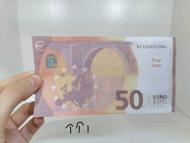 Die neuesten Querbrenner-Produkt-Prop-Währung 50 Euro Kinderspielzeug und -unterrichtsausrüstung Prop Währung Usage37
