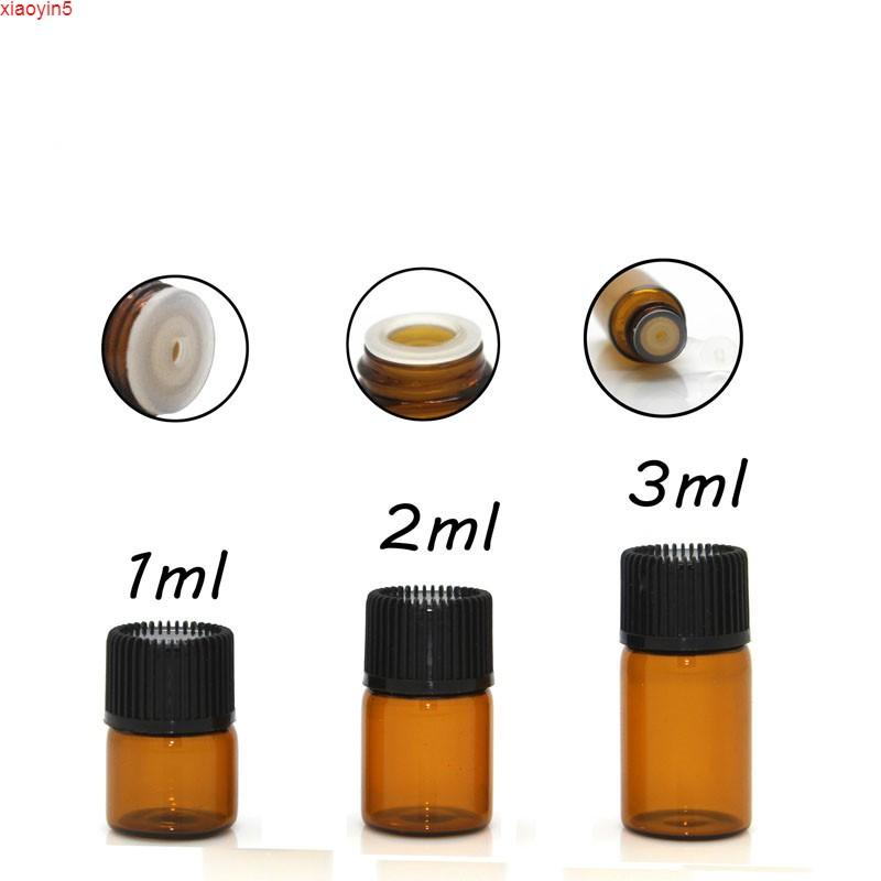 1мл 2 мл 3 мл мини-амберут эфирное масло содержание стеклянного бутылочка проезд пробы маленький флакон парфюмерные испытательные бутылки 100 шт. Бесплатная доставкаgood Product