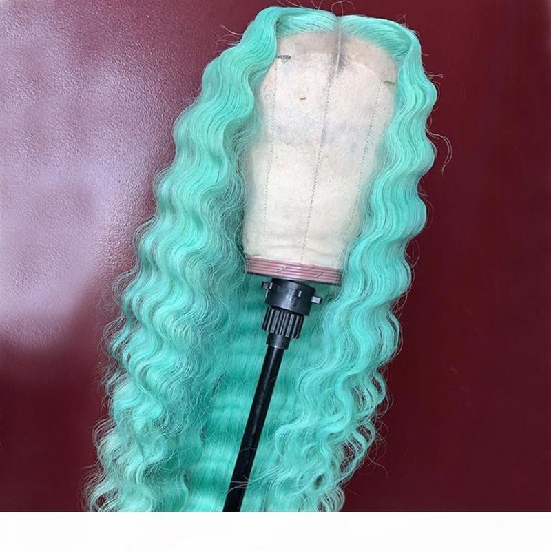 Grey Dentelle Front Perruques Humaines Cheveux humains 13x4 Prequa 613 Blonde Bleu Pink # 1B Perruques pour femmes noires Remy Brésilien Remy Wave