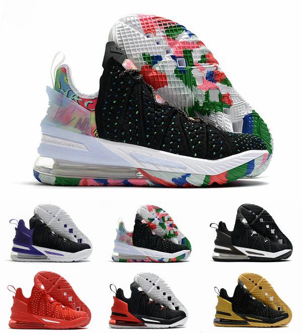 2020 Nova James 18 18s Shoes Mens Basketball Sneakers Homem Jade Empire Gang By Day Reflexões brancas Formadores LeBrons Zapatos des chaussures