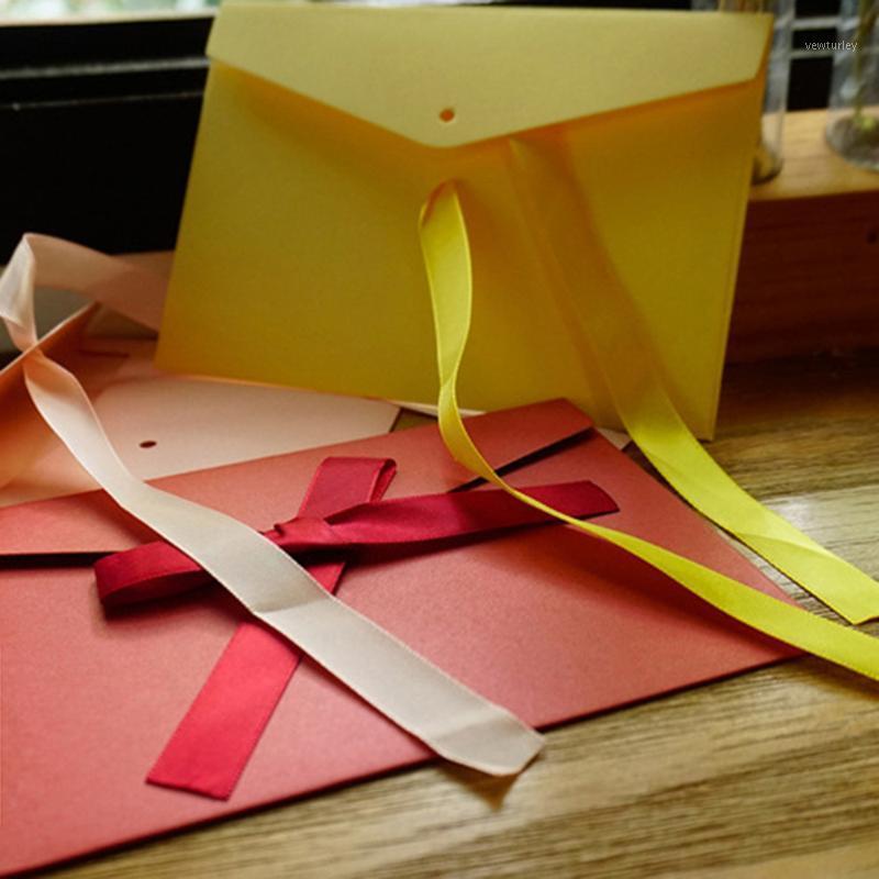 أكياس التعبئة جميلة 10 قطعة / الوحدة خمر الشريط اللؤلؤ ورقة المغلفات 12 ألوان كرافت مغلف للزفاف دعوة هدية 1