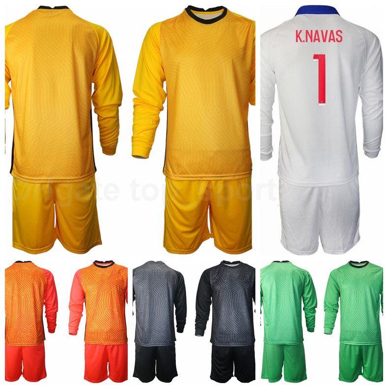 Hombres portero Portero de fútbol 1 Keylor Navas Manga larga Jersey 16 Sergio Rico Nicolas Douchez Alphonse Areola Football Shirt Kits B-L
