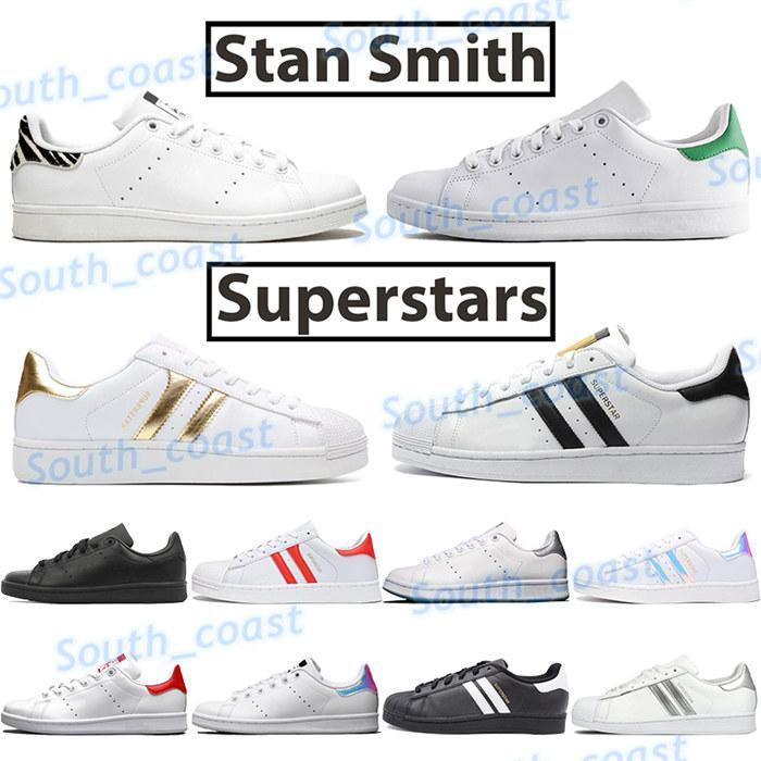 2021 Cheap Stan Smith scarpe moda maschile donne scarpe da tennis di bianco del nero superstar zebra universitari mens rosso verde Chaussures classici