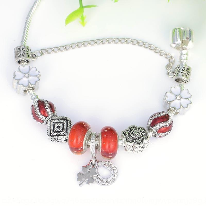 AhSAT Hot selling new bracelet Pandora bubble Crystal red love Diy Hot selling new snowflake braceletBeaded red bubble Crystal Beaded Pandora