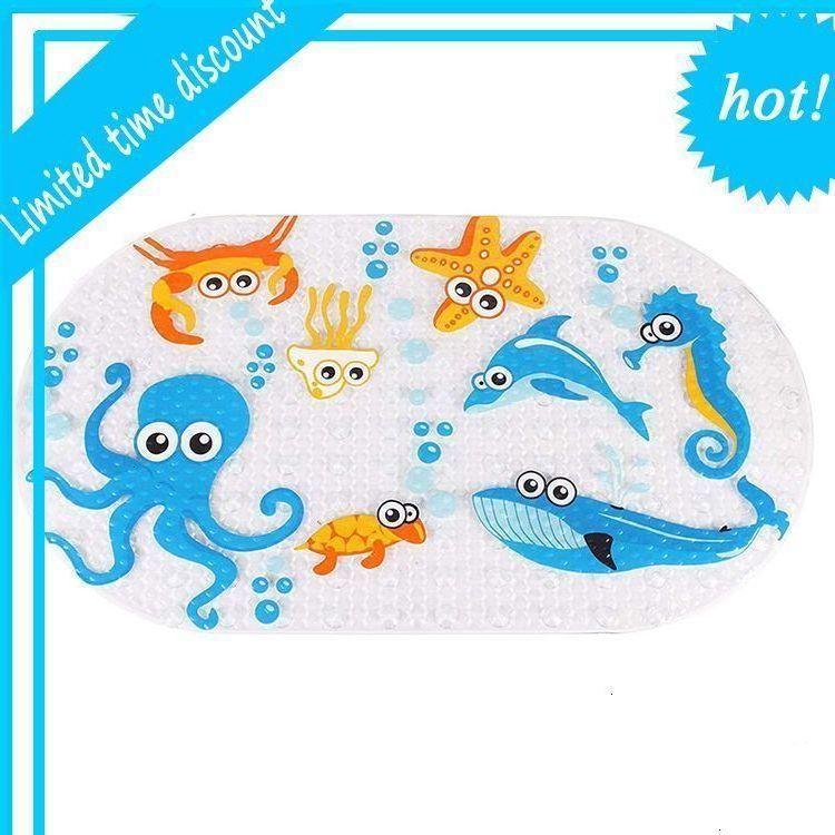 NEW Cartoon Funny Animal Anti-Slip with Suction Sucker Bathroom Bath Shower Mat for Kids Children