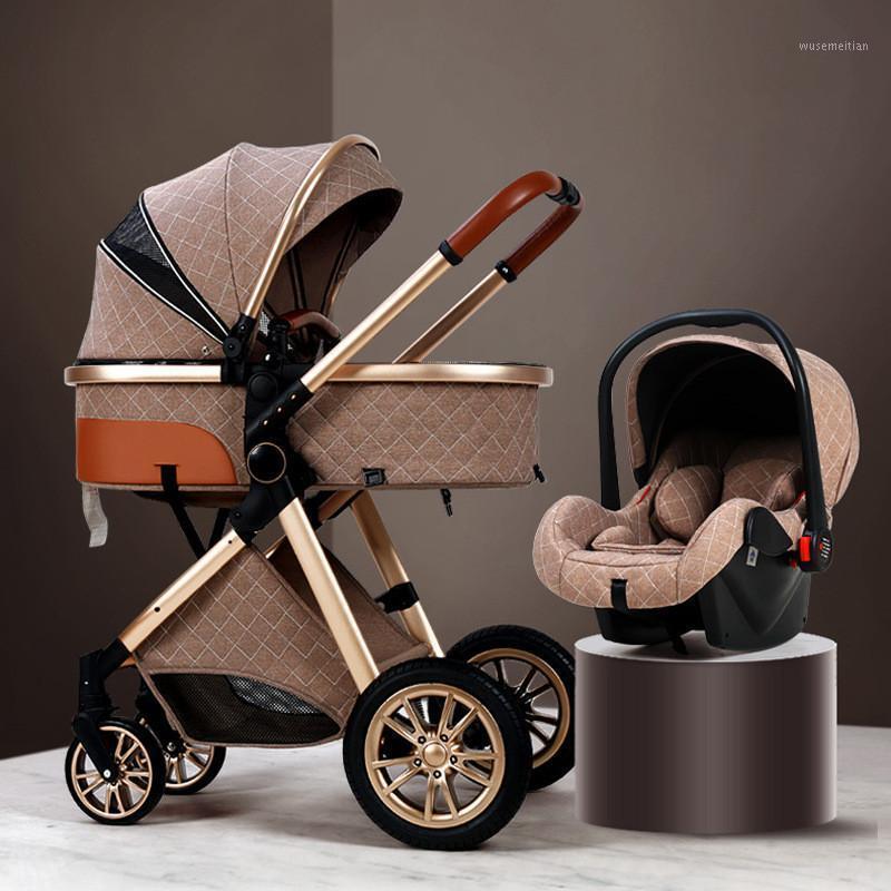 Cochecito de bebé multifuncional 3 en 1 viene con asiento de coche Recién nacido Buggy Buggy Sistema de viaje Luxury Infant Trolley Stroller1