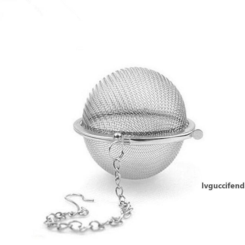 100pc Горячие нержавеющей стали чай Пот Infuser Sphere Mesh ситечки для чая шарика быстрая доставка