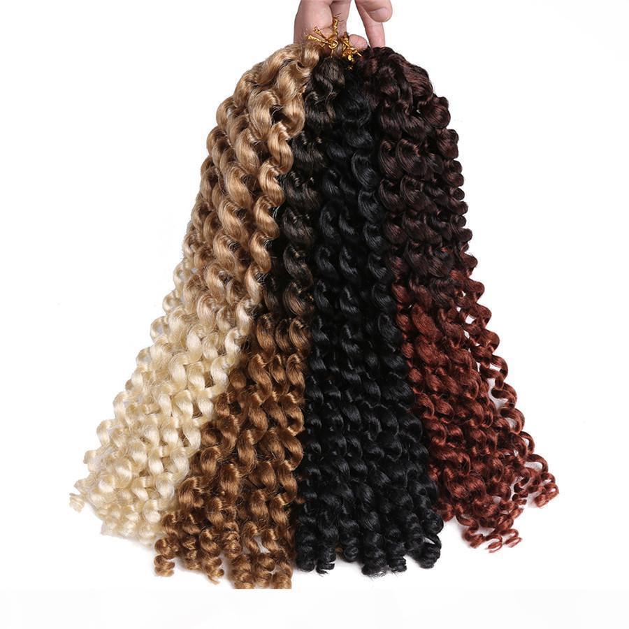 4inch Jumpy Wand Curl Twist Twist Crochet Braids Jamaican Bounce Africano Sintético trenzando Pelo 20 Strands Pack